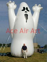 oxford fabric air blown outdoor giant decoration inflatable Halloween ghost