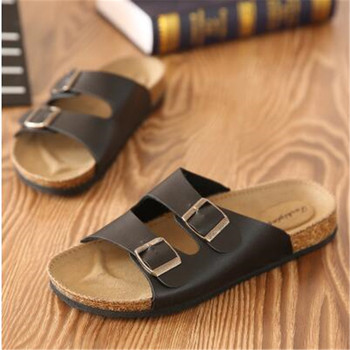 Fashion New Summer Cork Sandals Casual Men Mixed Color Flip Flops Shoes Zapatos Hombre Sandalias Plus Size 35-46 white black red 1