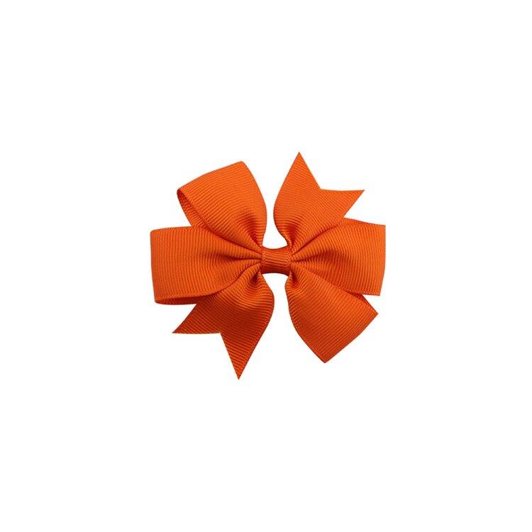 40 цветов сплошная корсажная лента банты заколки шпилька девушка бант для волос, бутик заколки для волос аксессуары для волос - Color: a36 Orange
