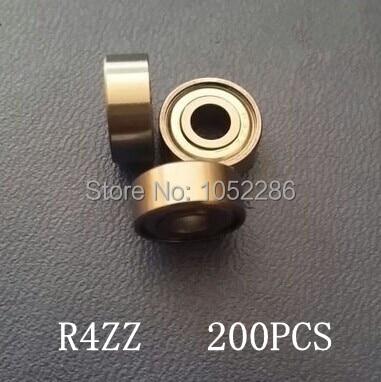 200pcs  R4ZZ  Shielded bearing 1/4
