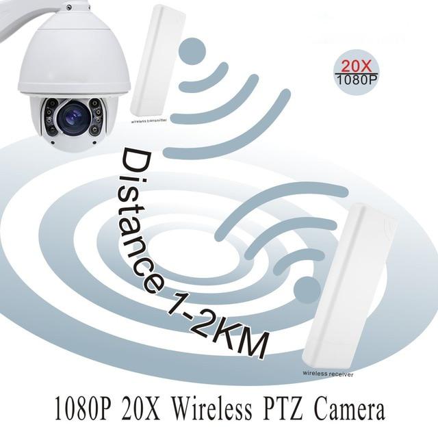 HOT SELLING 1080P 2MP Waterproof PTZ 20X Optical Zoom Wifi Wireless PTZ P2P Onvif CCTV Security ip camera