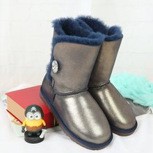 A discount of high quality winter snow boots new 100% Australian natural fur boots boots warm really free delivery