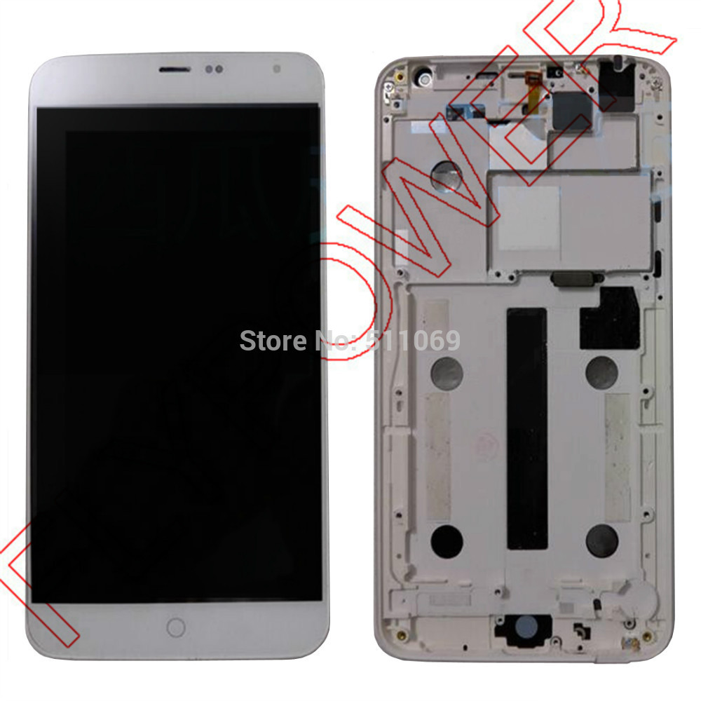 For Meizu MX4 LCD Screen Display with Touch Digitizer+frame Assembly free shipping; White; 100% warranty; 100% new