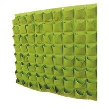 72 карманы настенный Войлок цветы и деревья сумки посадки зеленая стена завода сумки 460799