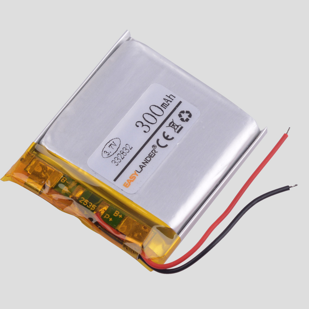 332832 3.7V 300MAH Lithium Polymer Battery For Recorder IBOX-GT885  300r Auto-register Atp Registrar