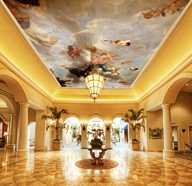 Custom Ceiling Murals Wallpaper Angel Murals For The