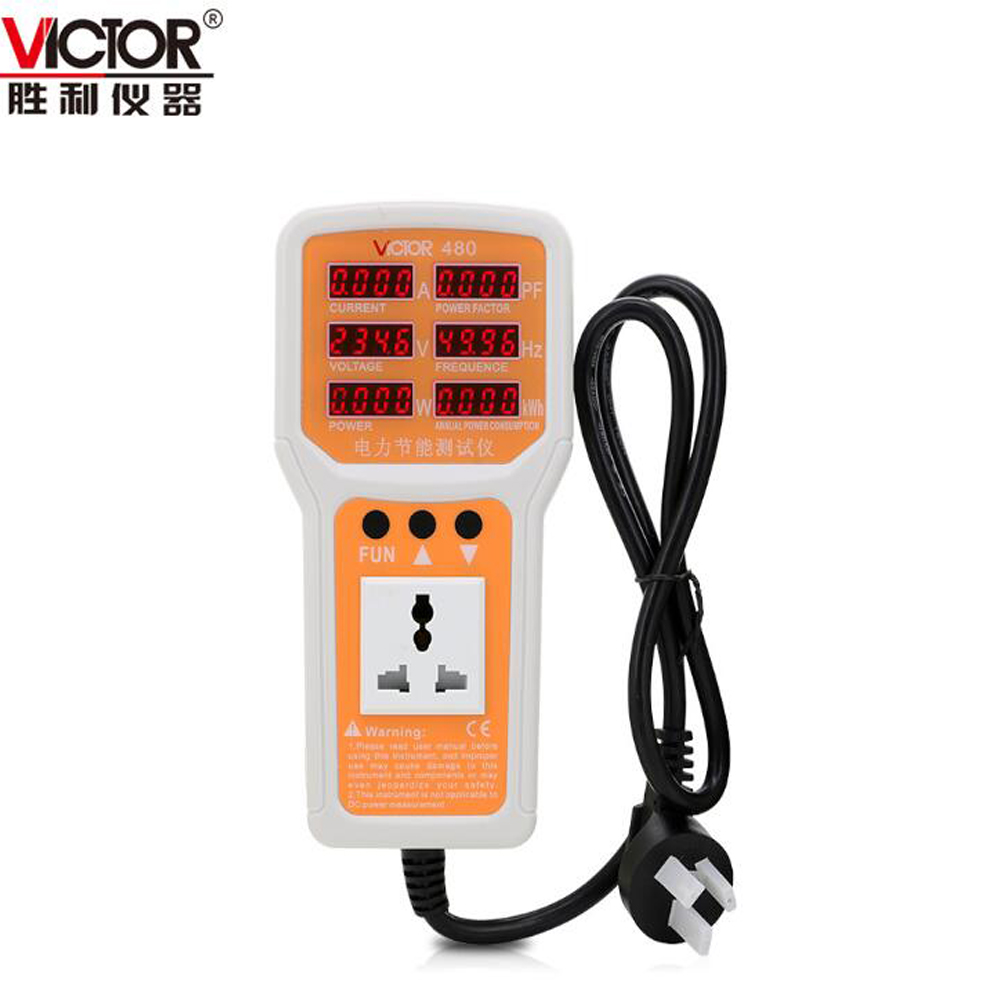 VICTOR VC480 Power Conservation Monitor Power Consumption Meter power meter power consumption monitor us plug