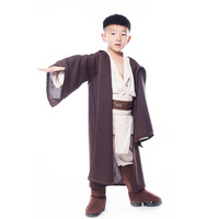 Free Shipping Fantasia Disfraces Halloween Costumes For Children Star Wars Boys Jedi Cosplay Costumes Game Uniforms