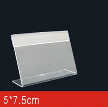 5*7.5CM 50 pcs acrylic desk table tablet stands sign showing stand acrylic price label holder