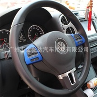 Protetor Volante ABS Chrome 2 pcs Acessórios do carro Para VW Volkswagen Golf 6 Novo Sagitar MAGOTAN Passat CC Tiguan Carro Styling