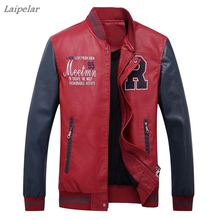 2018 Spring high quality mens leather jacket coat Leisure motorcycle Laipelar