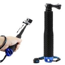 Wysuwany słupek Mini Selfie Stick wodoodporny niebieski Monopod dla GoPro Hero 4/3/3 +