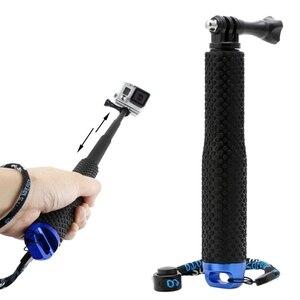 Image 1 - Wysuwany słupek Mini Selfie Stick wodoodporny niebieski Monopod dla GoPro Hero 4/3/3 +