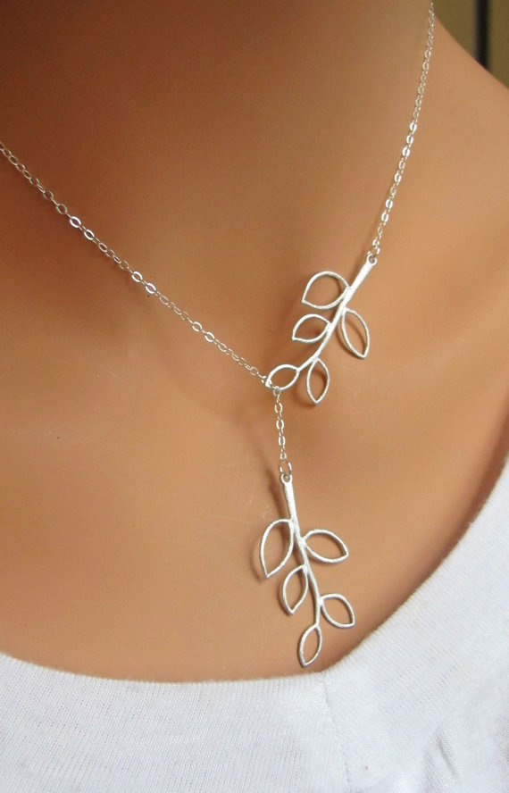 WLP boutique Jewelry Store The 2015 New leaf necklace Fashion Retro Hot Popular Simple Two Leaves Pendant Necklace For Women