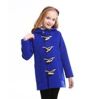 Kids Girl Overcoat Winter Wool Coat for Girls Teens Autumn Jacket Warm Long Outerwear Children Windproof England Hign Quality