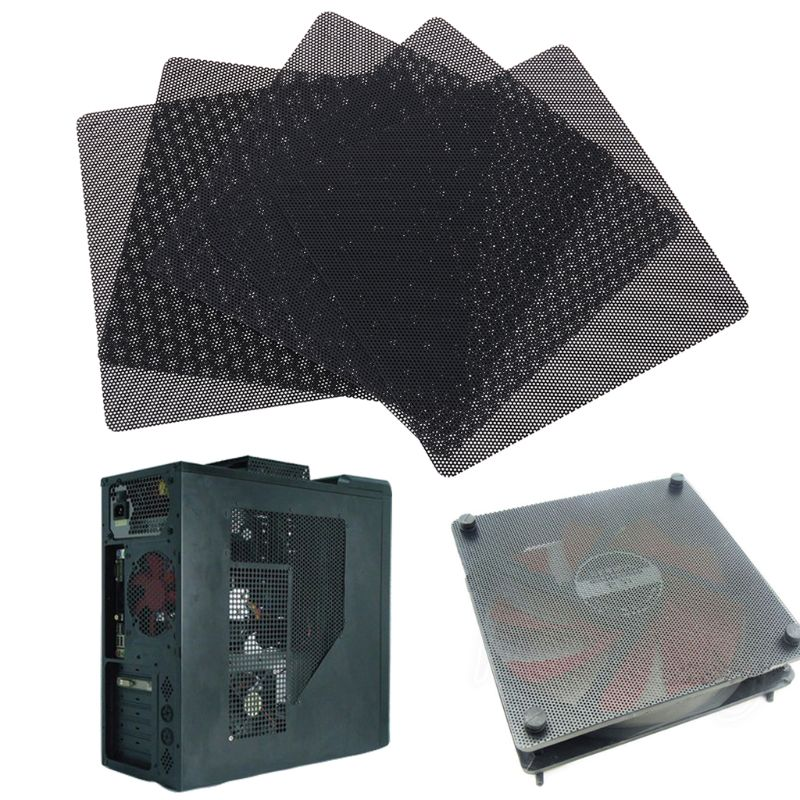 5PCS PC Computer Case Fan Cooler Dust Filter Dustproof Mesh Cover 120mm/140mm Cuttable PVC Black