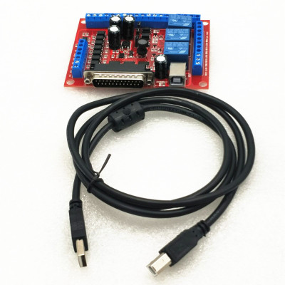 1*6 Axis MACH3 Red Interface Board+1* USB Cable