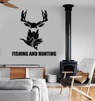 Новый дизайн виниловые наклейки на стену цитаты Рыбалка хобби олень наклейки на стену дома Гостиная стены Настенный декор LA881