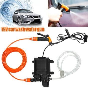 DC 12V 160W  Car Washer Pump Portable Washer Spray Washing Machine Self-Priming Kit Tool High Pressure Pump Nozzle Water