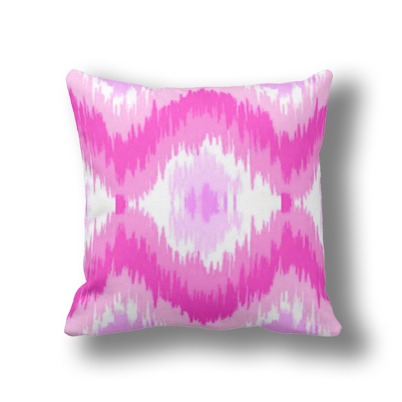 Table & Sofa Linens Pink Ikat Pillows 45x45cm,modern Decorative Cushion Throw Pillow Sofa Cover Custom Soft Pillow Case 18x18 Qw020 At All Costs