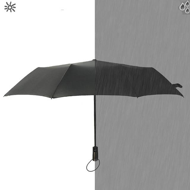1 PC Portable Sunny Rainy Umbrella Dual-purpose Umbrella  Windproof 3 Folding  10 Bone Commercial  Umbrellas Automatic