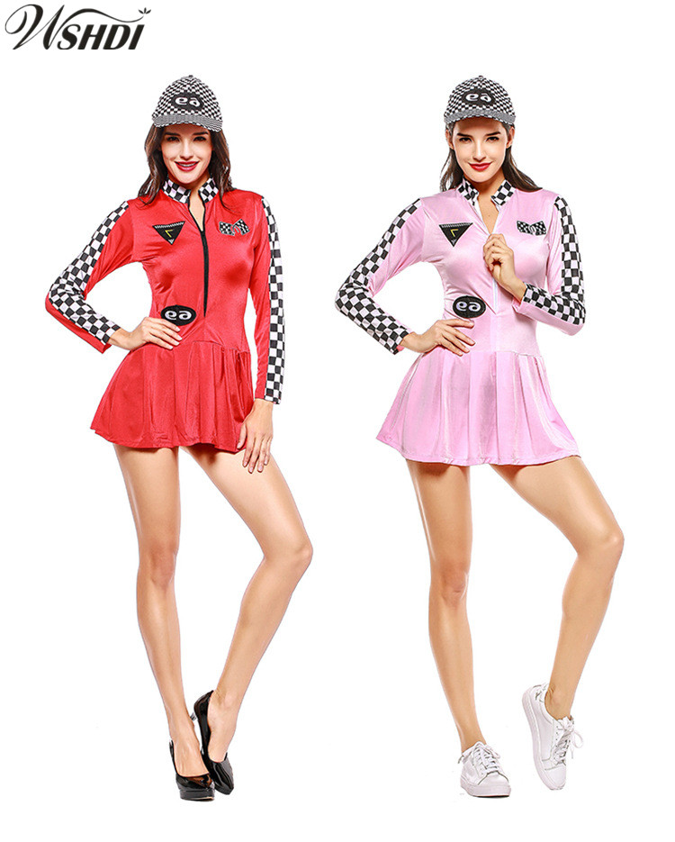Helpful Sexy Adult Sports Racing Uniform Race Car Driver Jumpsuit Racing Girls Cosplay Costume Cheerleader Back To Search Resultshome