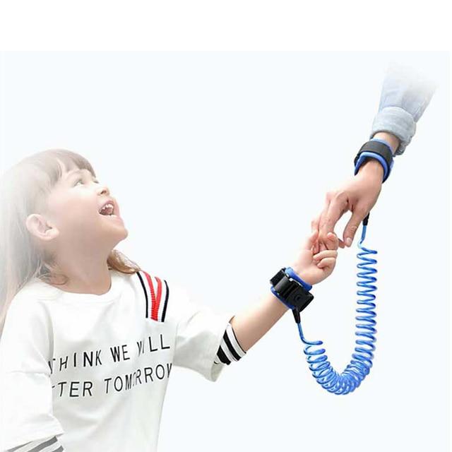 1.5/2.5m Child Wrist Leash Anti-lost Link Adjustable Kids Safety Harness Children Belt Walking Assistant Baby Walker Wristband 4
