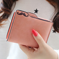 2015 New fashion Scrubs plug-in Nubuck mustache women multifunctional short design  wallet lady's money clip purse freeshipping