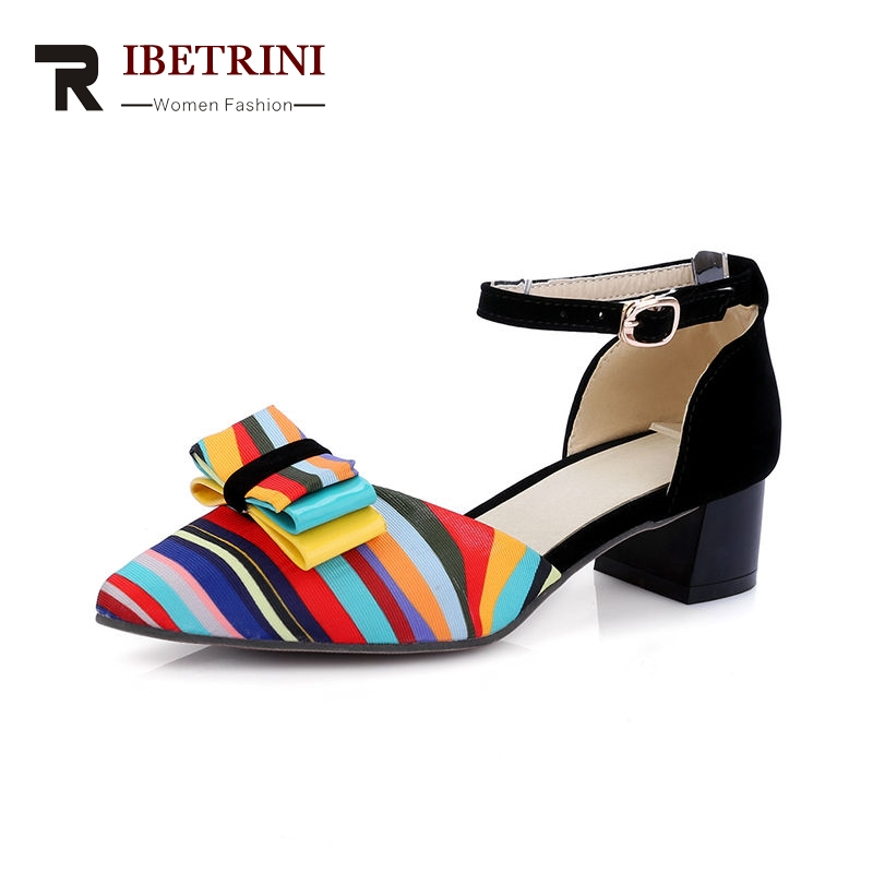 Chunky Summer 2018 Date Big Woman Colorful RIBETRINI Med RIBETRINI Colorful scarpe scarpe   89f28c