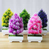 Artificial Pine Tree Bonsai Small Tree Pot Plants Fake Flowers Potted Ornaments For Home Decoration Hotel Garden Decor