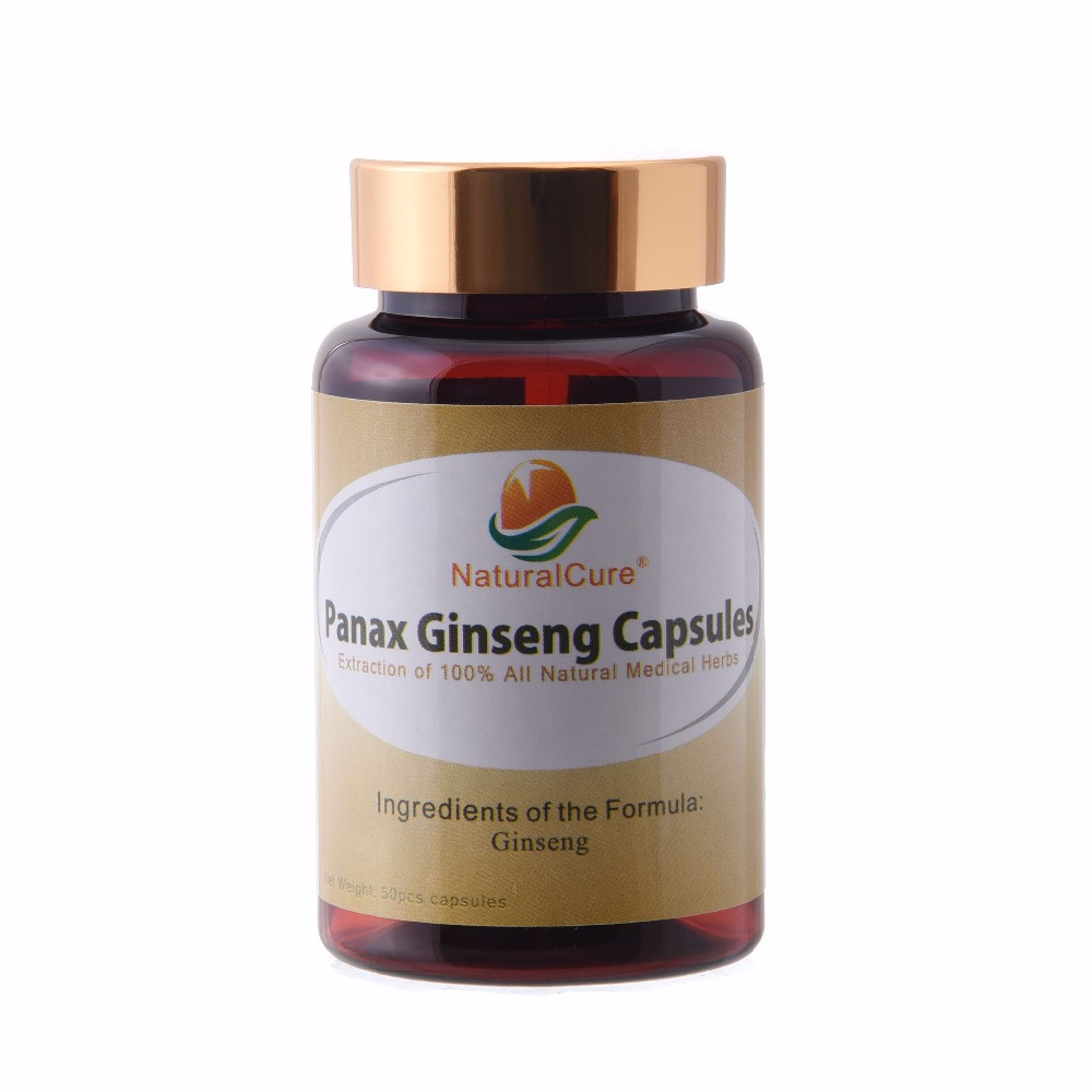 NaturalCure Panax Ginseng Capsule, 100% Natural Wild Ginseng Extraction Powder, Tonify Body Organs, Improve Immune System