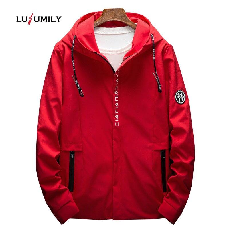 Lusumily Women's Hooded   Jacket   Plus Size 4XL 5XL Causal Windbreaker Women   Basic     Jackets   Zipper Waterproof Coat Famale Sportswear