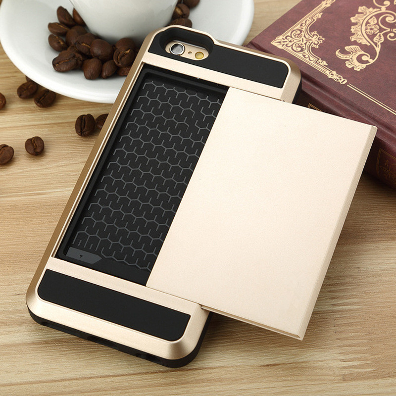 new concept ec614 85674 US $3.99 |Armor Case For iPhone 7 With Secret Credit Card Holder Coque for  IPhone 7 Hidden Slide Slim Card Slot Fundas-in Wallet Cases from Cellphones  ...