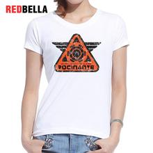 Redbella Women 2017 T Shirt Harajuku Fashion Triangle Irregular Shape Hipster Cotton Vintage Print Letter Ulzzang Tops Clothing