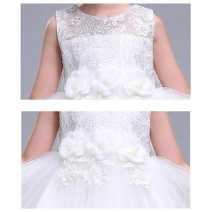 Image 5 - Menina vestido de verão branco princesa 3 14 anos menina vestido de festa robe fille crianças marca vestidos formatura