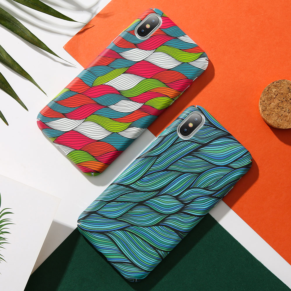 KISSCASE-Colorful-Vintage-Woven-Pattern-Case-For-iPhone-7-8-Plus-Hand-painted-Wavy-Phone-Case(5)