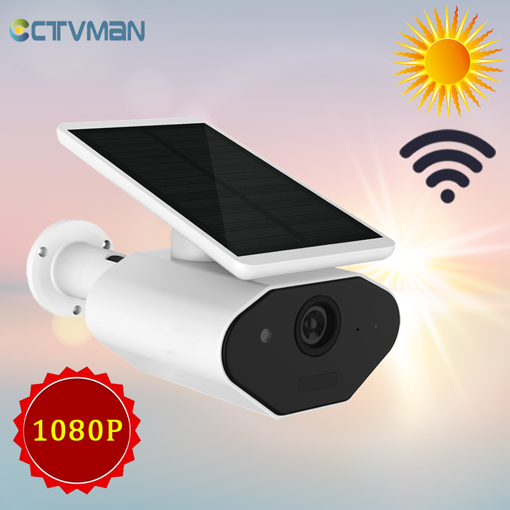 CTVMAN Solar Camera IP Wireless 1080P Battery WIFI Outdoor 2MP PIR Rechargeable Two Way Audio Exterior Home Security CCTV CameraCTVMAN Solar Camera IP Wireless 1080P Battery WIFI Outdoor 2MP PIR Rechargeable Two Way Audio Exterior Home Security CCTV Camera