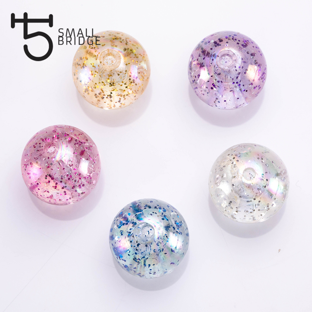 only 14mm large hole spacer Beads Mix lot NEW 8pc Glitter BluePurple Colored Mix European Charm RESIN Beads