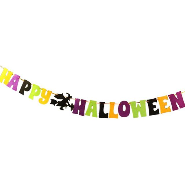 Letters Garland Banner Bunting with HAPPY HALLOWEEN for Celebration ...