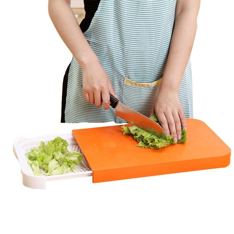 Kitchen Cutting Board 2 In 1 Kitchen Foldable Chopping