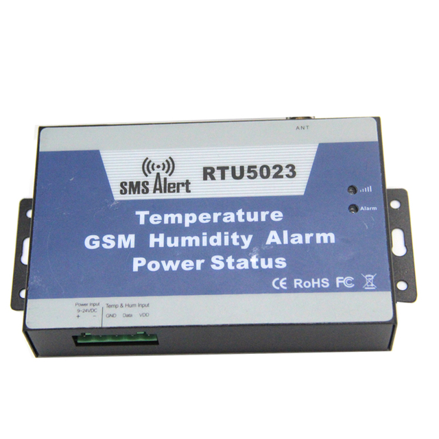 GSM Temperature & Humidity Environment Sensor Monitoring Alarm System for Greenhouse with 5m Sensor SMS Control