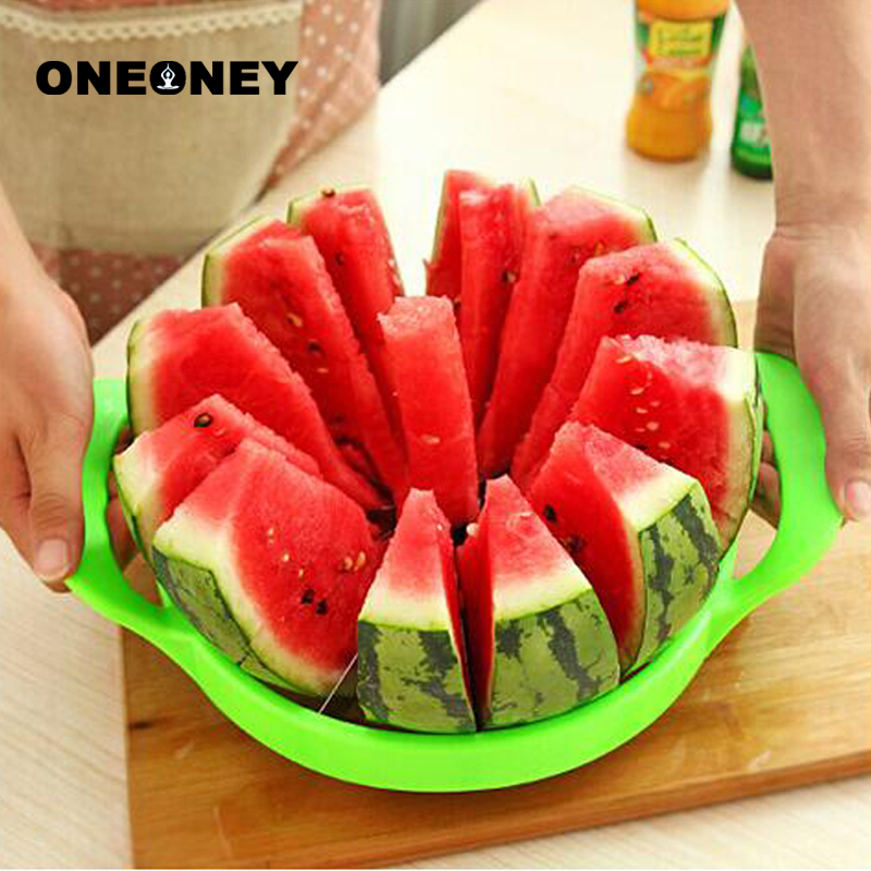 Creative Watermelon Slicer Melon Cutter Knife Kitehen Tools 410 Stainless Steel Fruit Cutting Slicer Kitchen Practical Tools