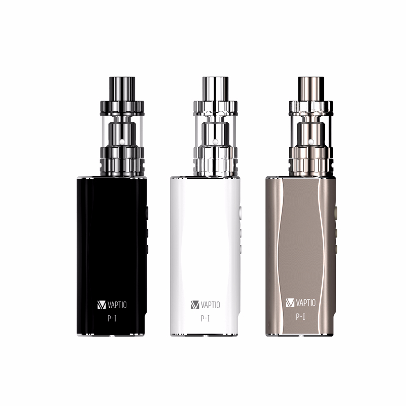 GIFT 5pcs Coils! Electronic Cigarette Vaptio P1 Kit 50W Vaporizer 2100mAh Built In Battery 2/3ml Atomizer Coils 0.25ohm