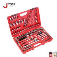 Jetech 123pcs professional garage kit hand mechanics tool box set car garage