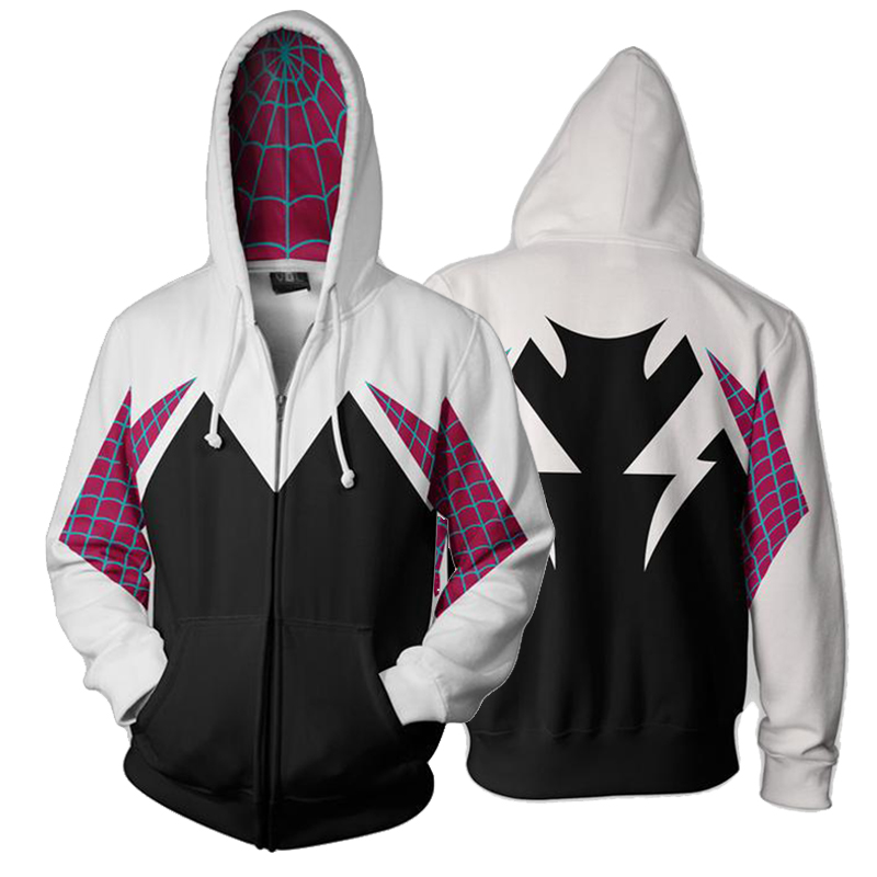 b7be2f125 Men Women Spider-Man Hoodie Spider Gwen 3D Hoodies Sweatshirts ...
