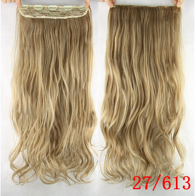 Soowee 60cm Long Synthetic Hair Clip In Hair Extension Heat Resistant Hairpiece Natural Wavy Hair Piece 4