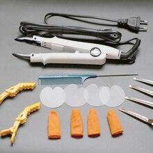 Супер качество, цена, белый цвет, плоская пластина для наращивания волос, Кератиновый инструмент для склеивания, тепловое железо