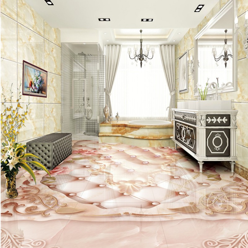 ФОТО Free shipping custom Marble relief soft package rose wood carving Continental 3D floor thickened floor murals wallpaper