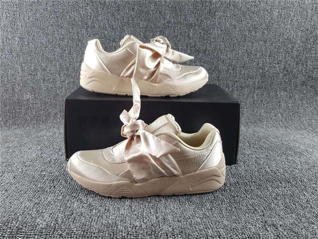 pretty nice 8b2a1 4a95d Puma shoes 698 bow Rihanna X Puma Fenty Mariya Hana bow shoes bow strap  shoes black 36-39
