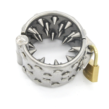 30mm Stainless steel cock ring 4 rows teeth penis ring